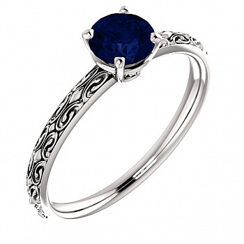 Engagement and Anniversary ring i71618Sf with Sapphire from Gold