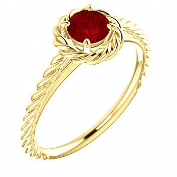 Gold engagement ring with Ruby 71837Rb