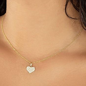 Pandantiv inima din Aur sau Platina cu Diamante pan1980