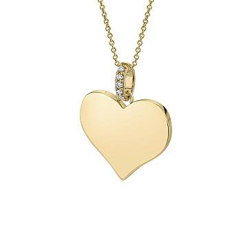 Pandantiv Inima pan1981 din Aur sau Platina cu Diamante