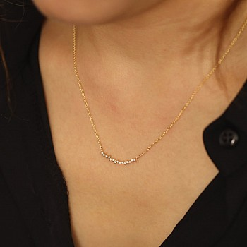 Pandantiv Curbat pan1996 din Aur Galben cu Diamante