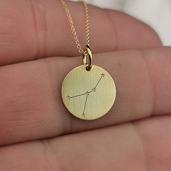 Zodiac Sign Pendant from Gold or Platinum pan2070