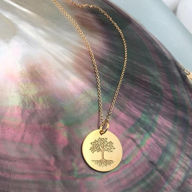 Tree of life necklace from Gold or Platinum pan2073