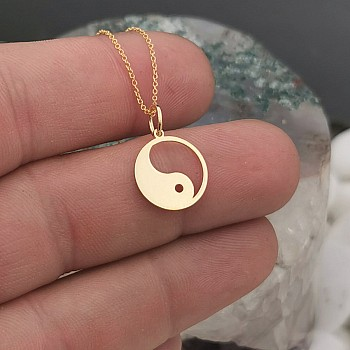 Yin and Yang Necklace from Gold or Platinum pan2076