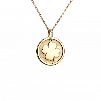 Four Leaf Clover Necklace from Gold or Platinum pan2077