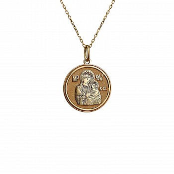 Virgin Mary Necklace from Gold or Platinum pan2078