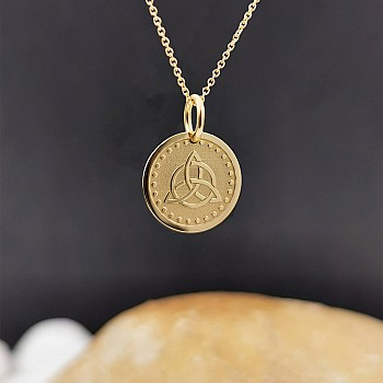Triquetra Necklace from Gold or Platinum pan2079
