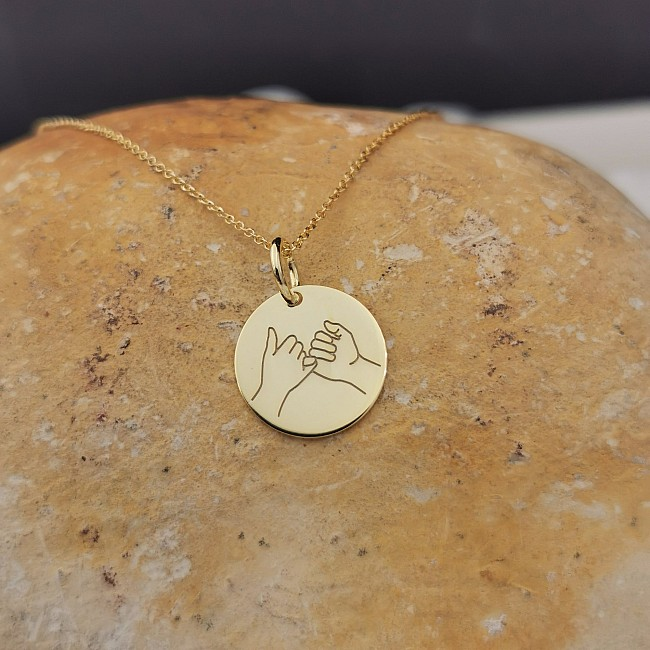 Pinky Promise Necklace from Gold or Platinum pan2081