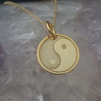 Yin and Yang Necklace from Gold or Platinum pan2083