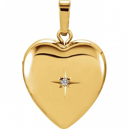Diamond Heart Shape Locket from Gold pan2388