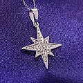 North Star Gold or Platinum pendant with Diamonds pan521