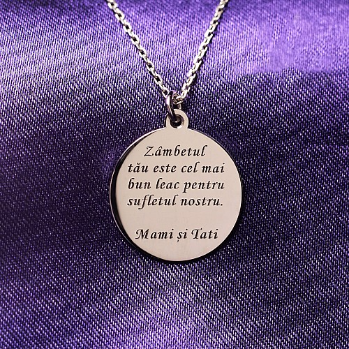 Message pendant from Gold or Platinum pan522