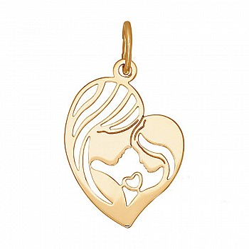 Morther and son gold pendant pan565