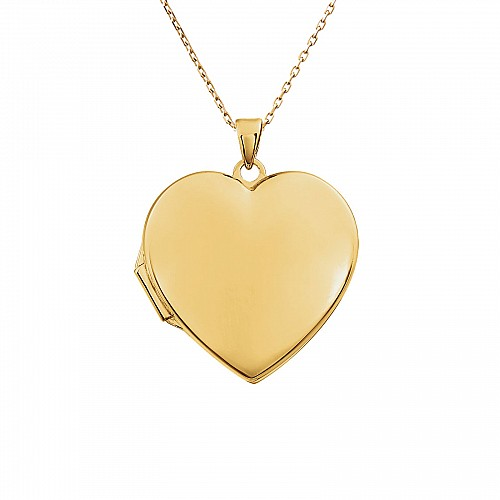 Gold Heart Locket pan86053