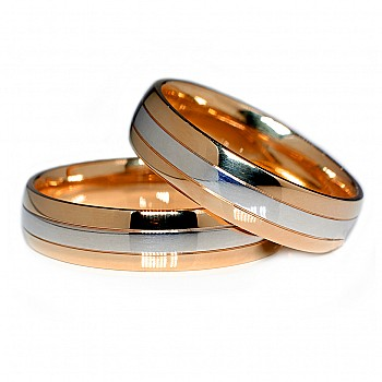 Wedding Bands v018 from Gold Two-Tone
