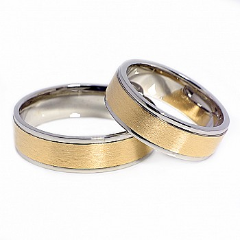 Wedding Bands v026 from Two-Tone Gold