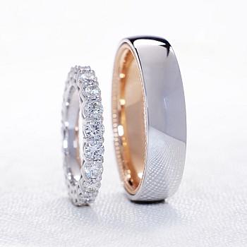 Verighete vp1230 Model Verragio din Platina si Aur cu Diamante