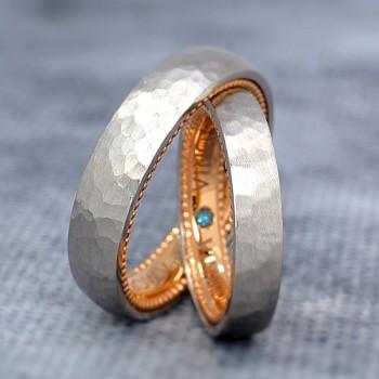Verighete v1242 Model Verragio din Aur sau Platina cu Diamante
