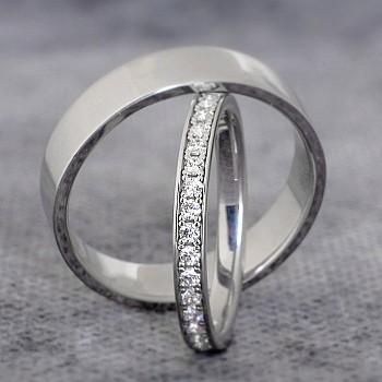 Verighete vp230 din Platina cu Diamante