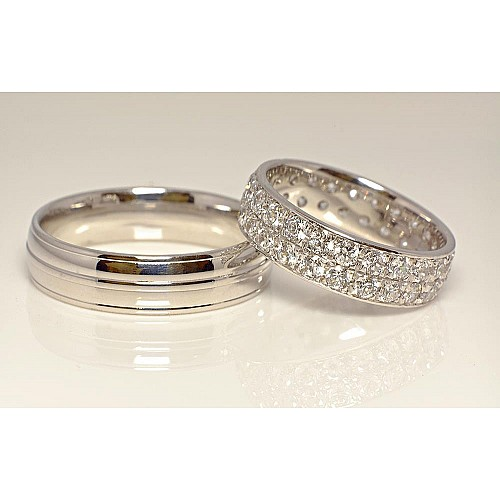 Gold wedding rings with Diamonds v847