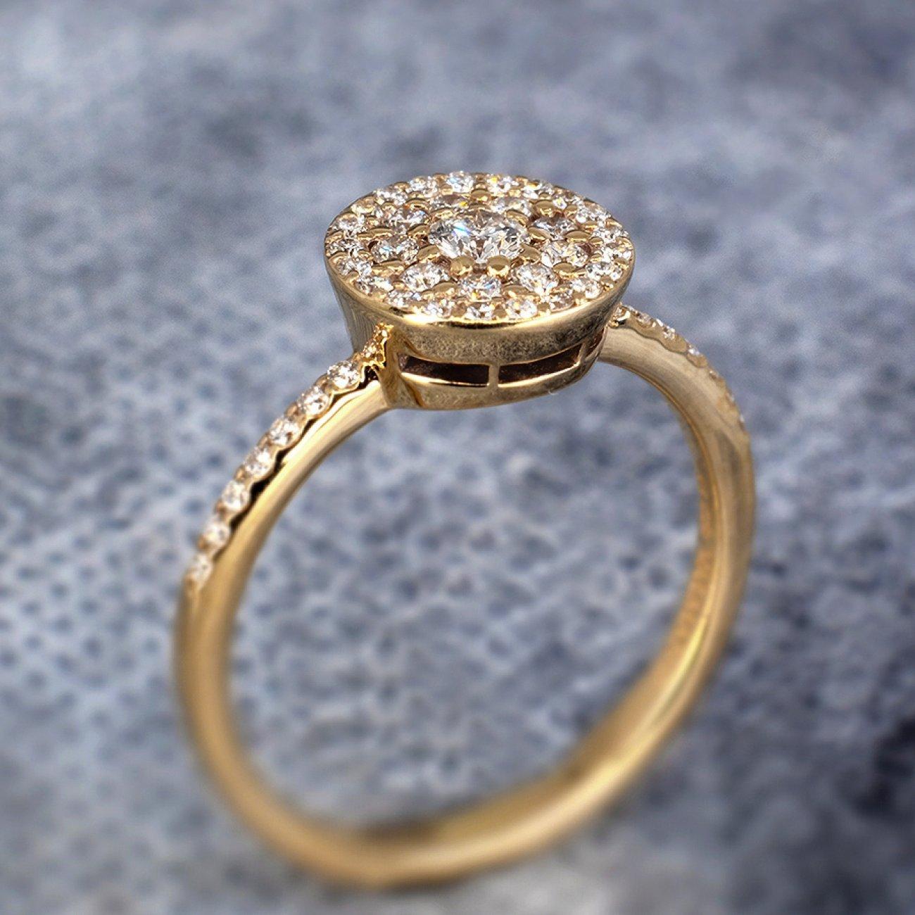 inel de logodna aur galben